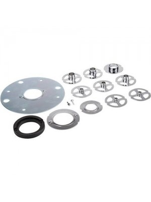 Triton 12pc Chrome Plated Router Template Guide Kit