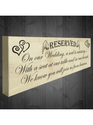 A Soul Is Missing Freestanding Wedding Memorial Plaque