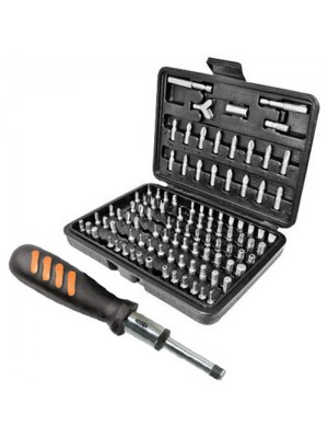 100PC Torx Screwdriver Bit Set And 210mm Ratchet Bit Handle