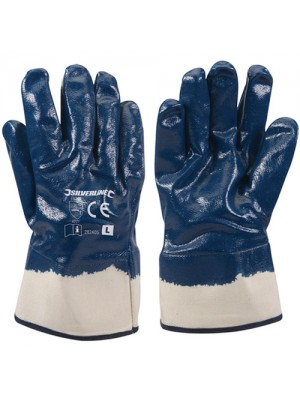 Silverline Jersey Lined Nitrile Work Safety Gloves