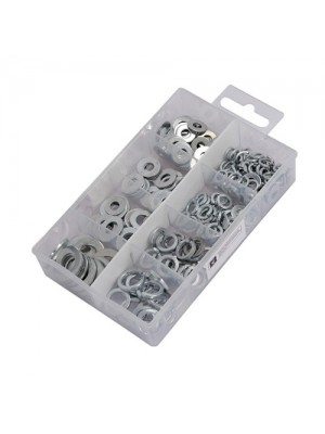 Neilsen 250pc Flat And Spring Zinc Plated Washers