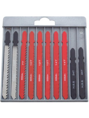 10pc T-slot Fitting Jigsaw Blades For Metal Wood And Plastic