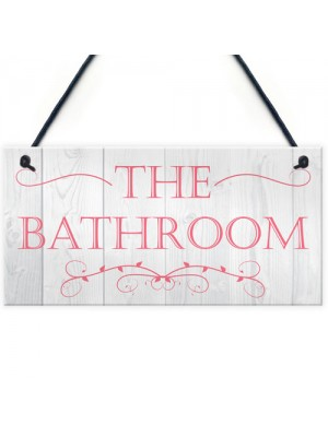 The Bathroom Decorative Hanging Plaque