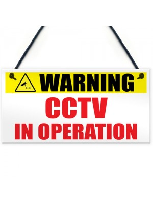Warning CCTV In Operation Home Security Sign