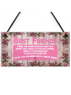 Thank You For Being Such A Great Friend Hanging Plaque