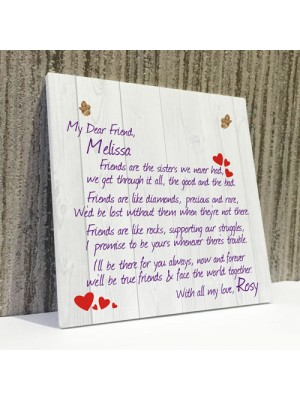 Personalised Friends Are.. Friendship Plaque Sign Thank You Gift