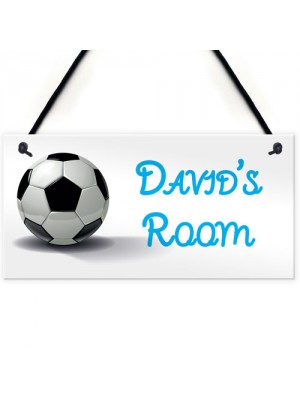 Personalised Football Boys Name Room / Man Cave Hanging Sign