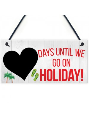 Chalkboard Countdown Days Until Holiday Hanging Sign Plaque Gift
