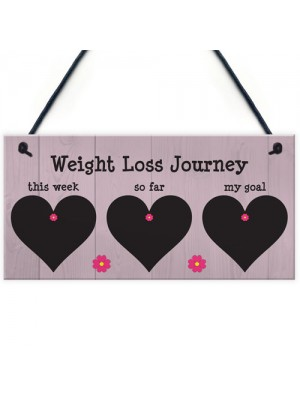 Weight Loss Tracker Chalkboard Hanging Plaque Sign
