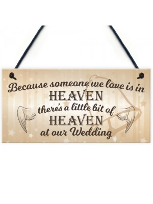 You Would Be Here If Heaven Wasn't Far Away Hanging Plaque Sign