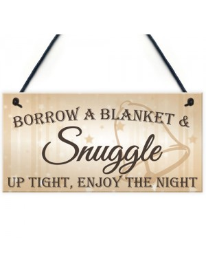 Snuggle Up Tight Cute Hanging Wedding Plaque Gift Sign