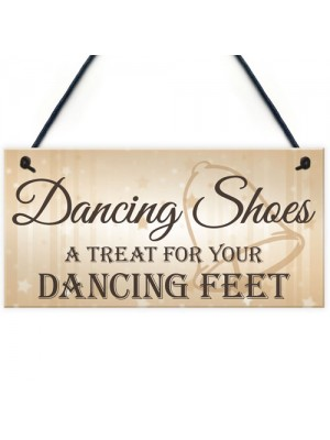 Dancing Shoes Treat Feet Hanging Wedding Plaque Fun Gift Sign