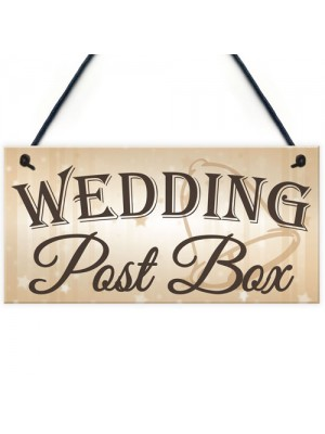 Wedding Post Box Hanging Decorative Plaque Well Wishes Table Sign