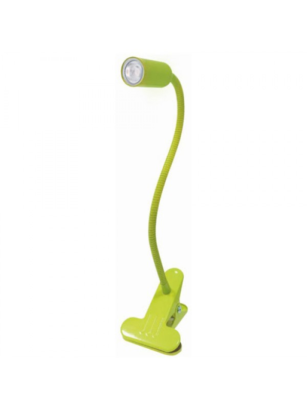 White LED Flexible Reading Light Clip-on Bed Table Desk - Green