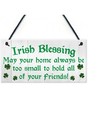 Irish Blessing Novelty Friendship Hanging Plaque Sign