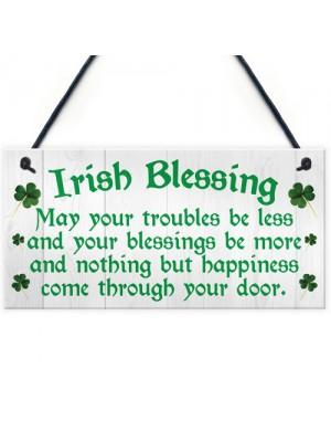 Irish Blessing Happiness Friendship Hanging Plaque