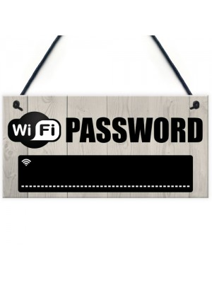 Wifi Password Chalkboard House Warming Gift Hanging Plaque