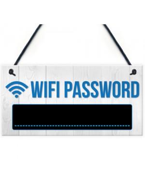Wifi Password Chalkboard New Home Gift Hanging Plaque