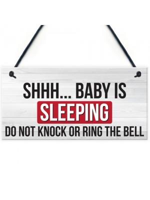 Shh.. Baby Is Sleeping Do Not Disturb Nursery Hanging Plaque