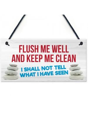 Toilet Flush Me Well Funny Novelty Loo Door Hanging Plaque