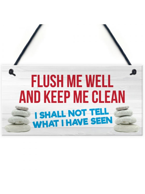 Toilet Flush Me Well Funny Novelty Loo Door Hanging Plaque