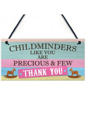 Thank You Childminder BabySitter Gift Hanging Plaque