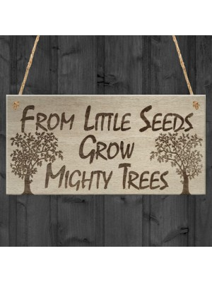 Mighty Trees Motivation Inspiration Friend Gift Hanging Plaque