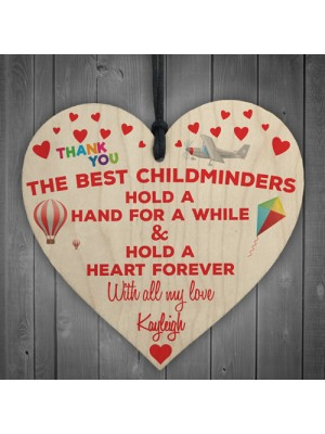 Personalised Best Childminders Thank You Gift Hanging Plaque