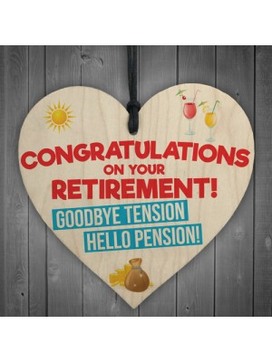 Retirement Goodbye Tension Funny Pension Gift Hanging Plaque