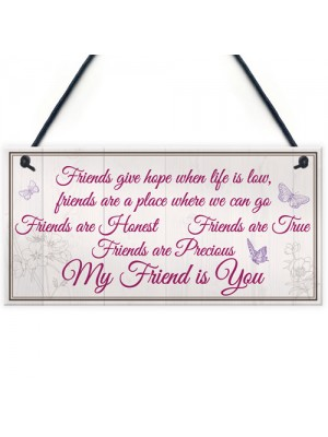 My Friend Is You Friendship Gift Best Friend Hanging Plaque