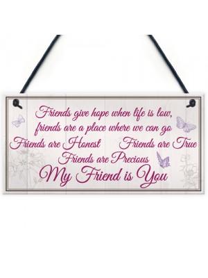 My Friend Is You Friendship Gift Best Friend Hanging Plaque