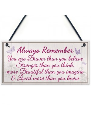 Inspire Beautiful Friendship Gift Best Friend Hanging Plaque