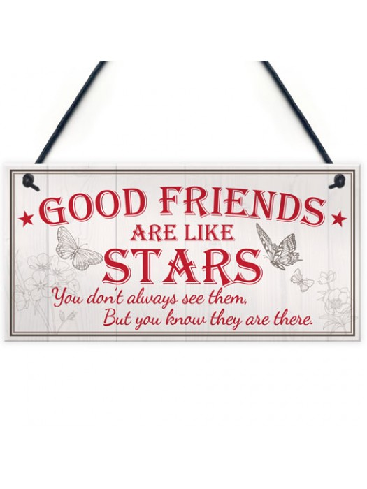 Good Friends Stars Friendship Gift Best Friend Hanging Plaque