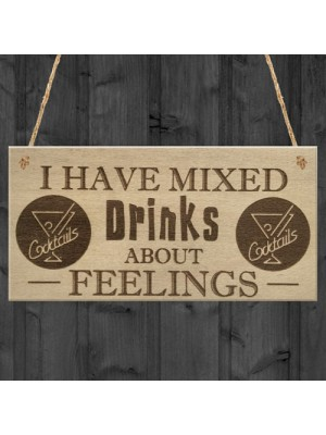 Mixed Drinks Alcohol Wine Funny Friendship Gift Hanging Plaque
