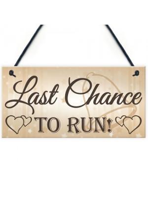 Shabby & Chic Wedding Sign Run Bride Pageboy Groom Gift Plaque