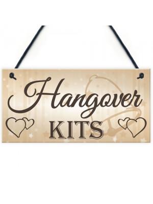 Shabby & Chic Wedding Sign Hangover Kit Bride Groom Gift Plaque
