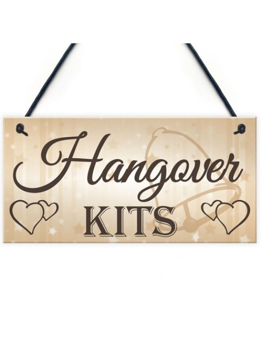 Shabby & Chic Wedding Sign Hangover Kit Bride Groom Gift Plaque