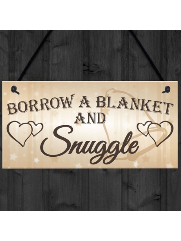 Shabby & Chic Wedding Sign Gift Blanket Snuggle Present Plaque