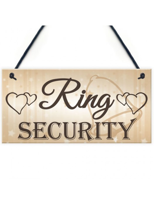 Shabby & Chic Wedding Sign Ring Security Pageboy Bestman Plaque