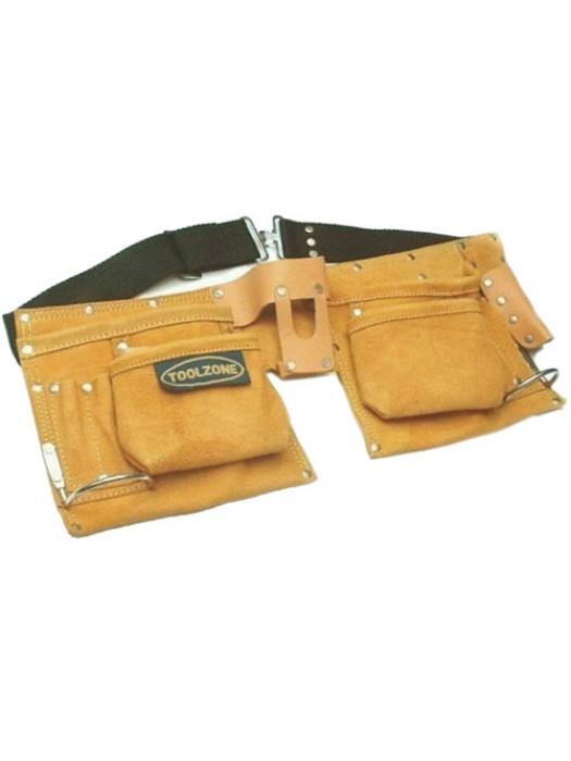 Heavy Duty 10 Pocket Professional Double Pouch Tool Belt