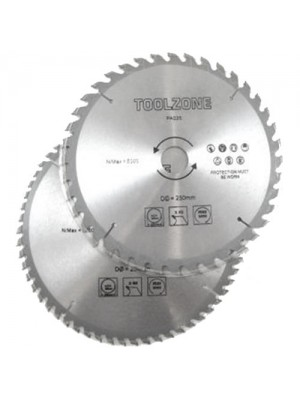 2 Pack TCT Circular Saw Blades 250mm 40T & 60T