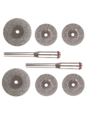 6 Piece Mini Diamond Disc Cutting Set Dremel Hobby Tool Drills