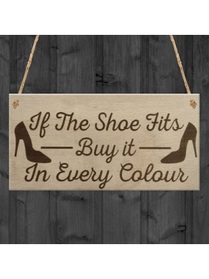 Shoe Fits Buy It Funny Shopping Diva Den Friends Hanging Plaque