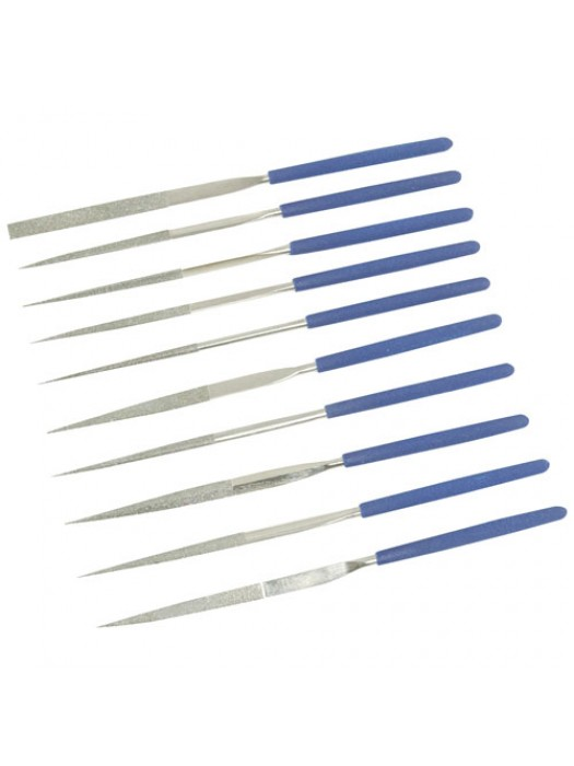 Silverline Diamond Needle File Set 10pce (10pce)