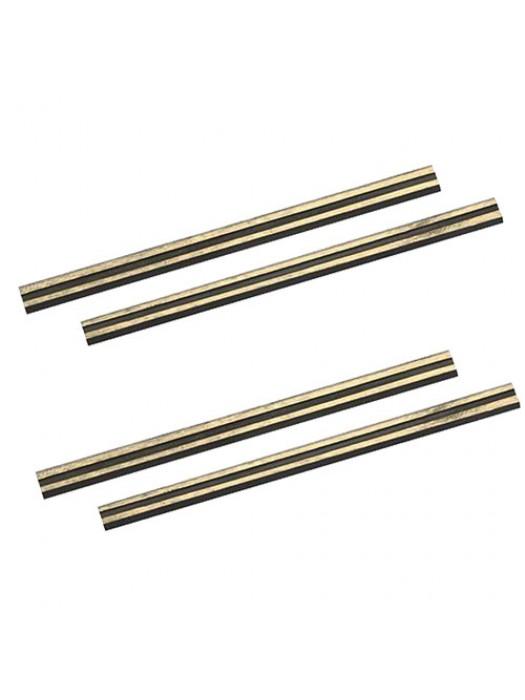 4 Pack Reversible Tungsten Carbide Planer Blades (82x5.5x1.1mm)