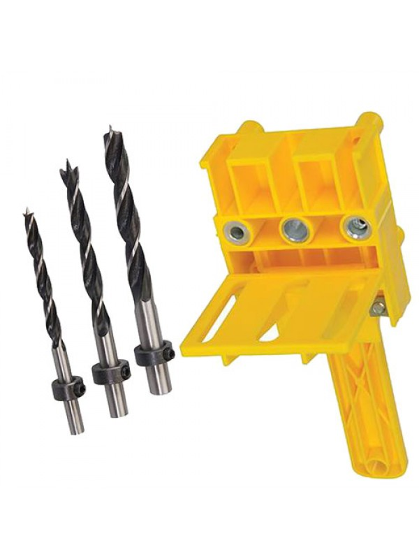 Silverline Dowelling Jig & Dowel Drill Set 3pce 6,8 & 10mm Dowel