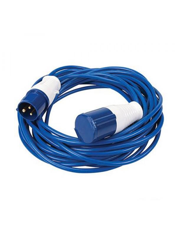 Silverline 14m Caravan Hook Up Cable 16A Lead & Mains Adaptor