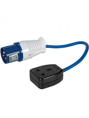 Silverline 16A-13A Fly Lead Converter (16A Plug to 13A Socket)