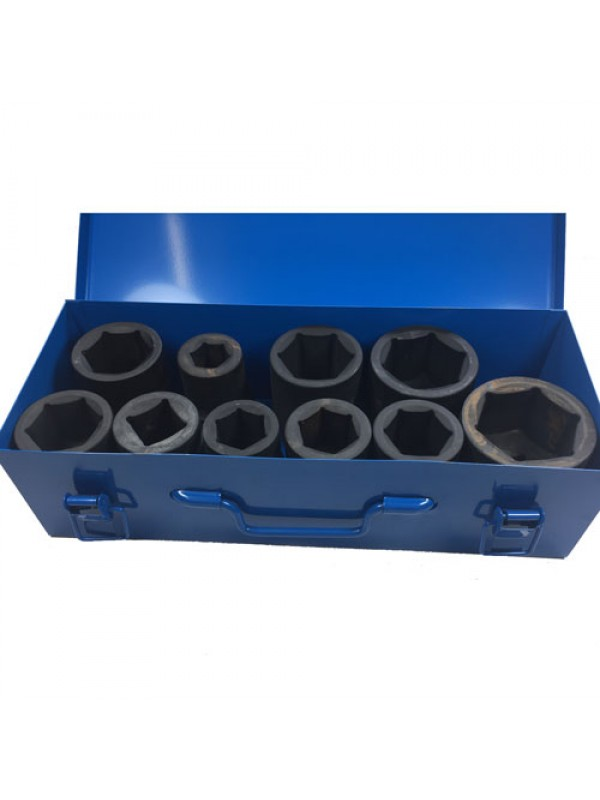 Toolzone 10Pc 1 Inch Deep Impact Sockets