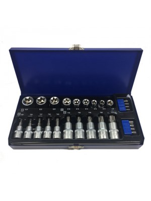 Toolzone 27Pc 3/8 Inch Torx / Star Socket and Socket Bit Set